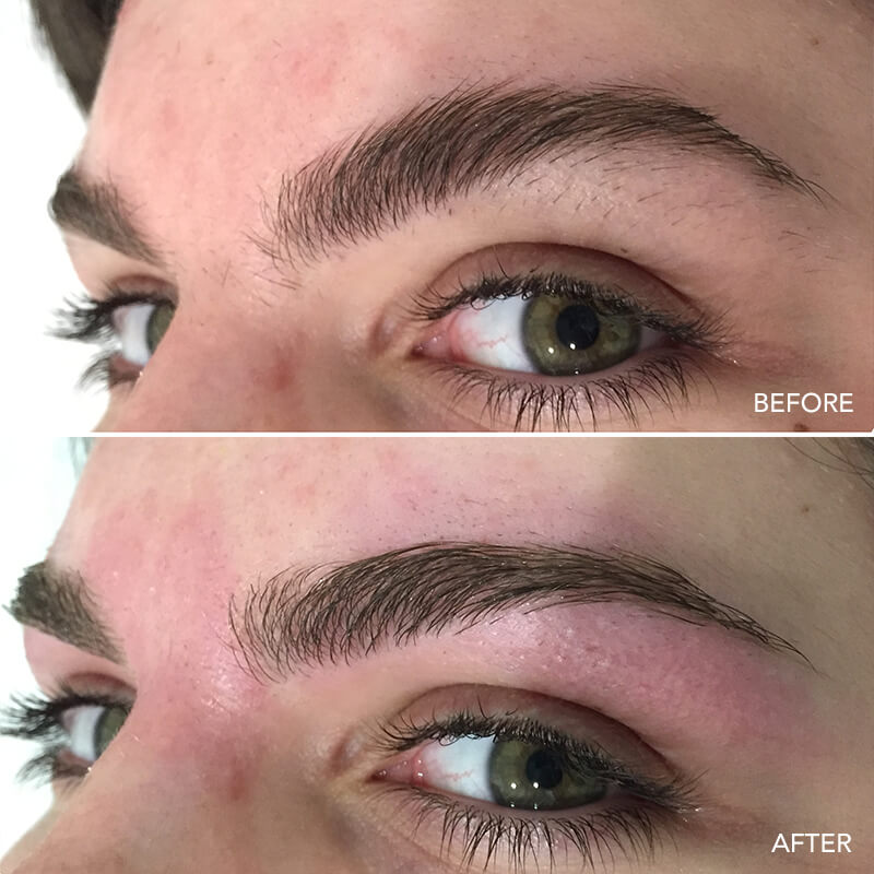 Eyebrow Wax Before & After