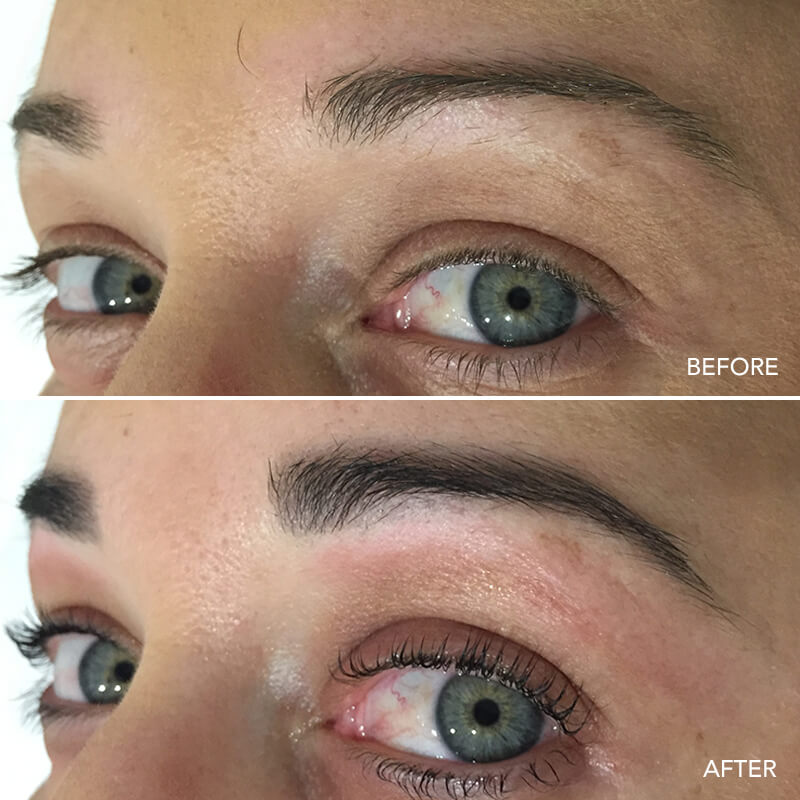 Eyebrow Wax & Tint Before & After