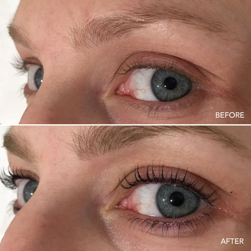 Eyelash Lift & Tint Before & After